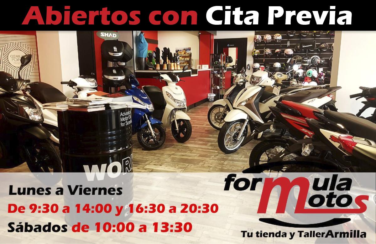 Abiertos taller tienda reparacion armilla motos scooter covid coronavirus